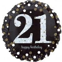 Golden 21st Birthday Folienballon 46cm