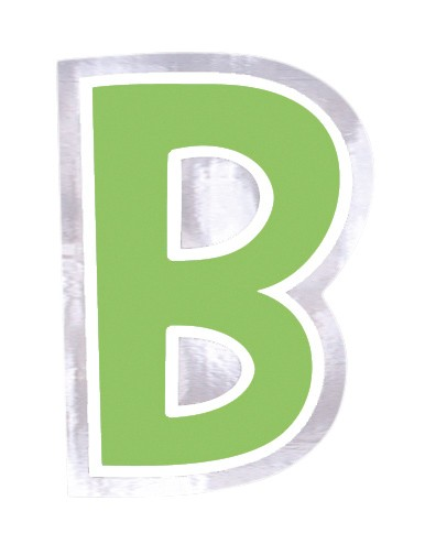 48 balloon stickers letter B