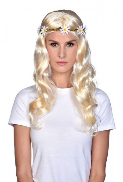 Perruque hippie blonde Louisa