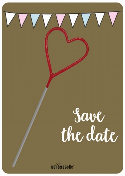 Golden Save the Date Wondercard
