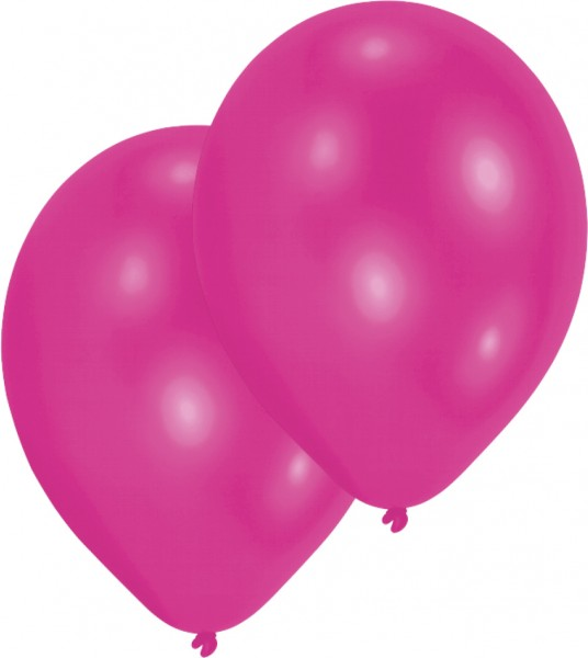 Set of 10 Magenta 27.5 balloons