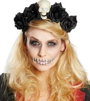 Totentanz Haarreif mit Rosen Für Damen