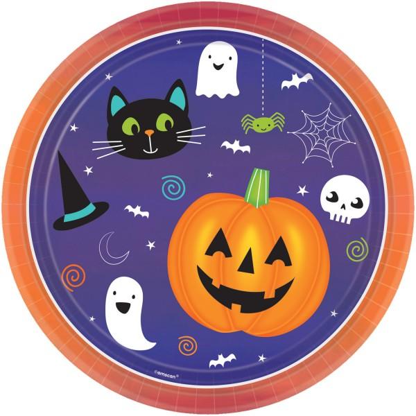 8 platos Happy Halloween 23cm