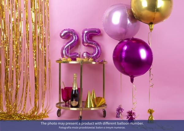 Zahl 1 Folienballon fuchsia 35cm