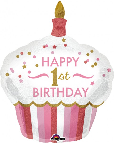 Foil balloon Sweet Cupcake 1st Birthday Princess