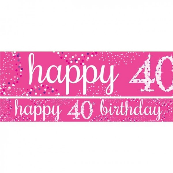 40th birthday banner set 3 pieces