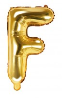 Folienballon F gold 35cm