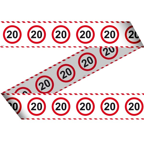 Verkehrsschild 20 Absperrband 15m
