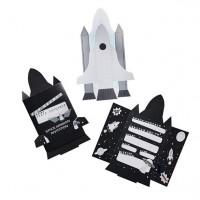 10 Space Ship Einladungskarten 14,5 x 22,5cm