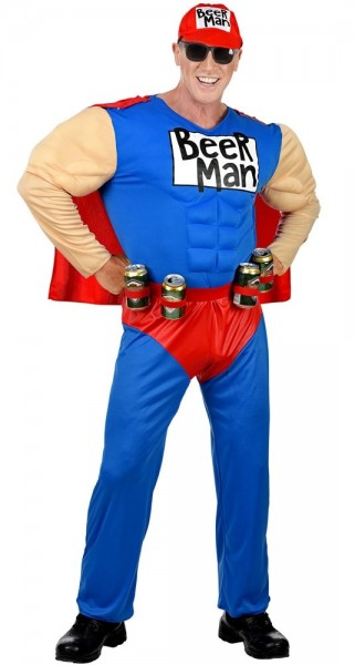 Mighty Beerman superhero costume