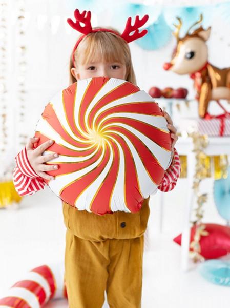 Ballon aluminium Candy rouge 35cm