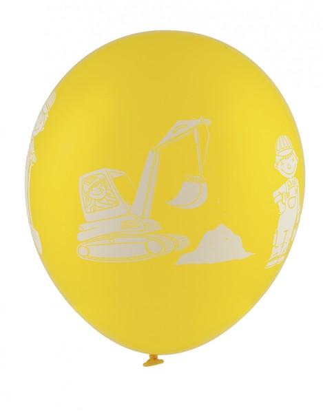 5er Pack Latexballon Baustelle Kindergeburtstag 30cm