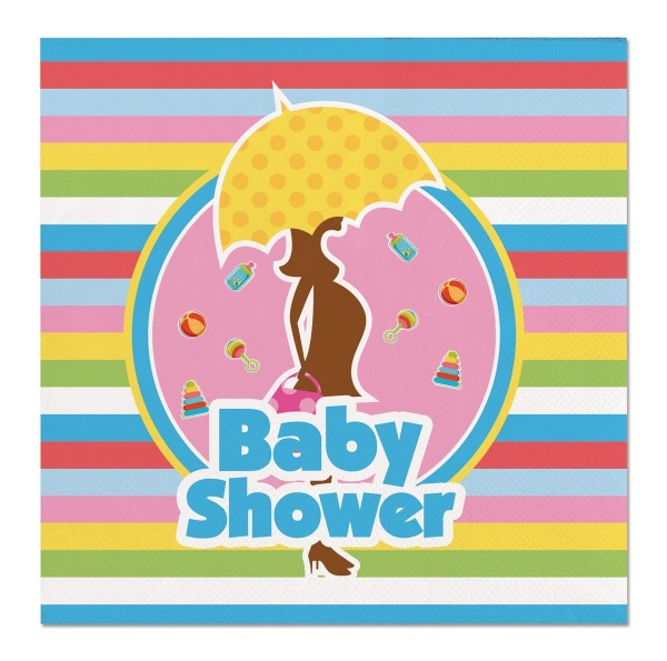 20 Farbenfrohe Servietten Baby Shower