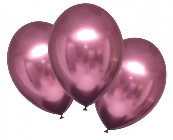6 ballons en satin brillant rose 27,5cm