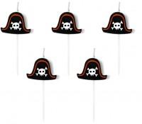 5 Südsee Piraten Tortenkerzen