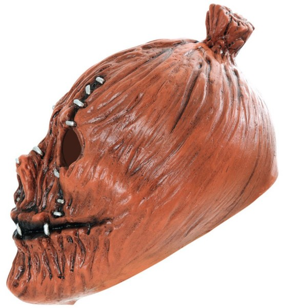 Zombie Kürbis Maske Getackert