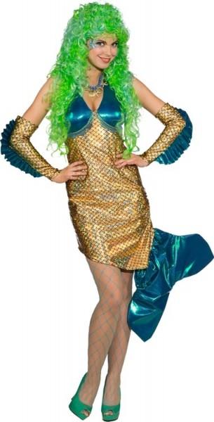 Costume da sirena adriatica in oro e blu