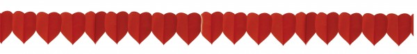 Heart paper garland love fire 3.6m