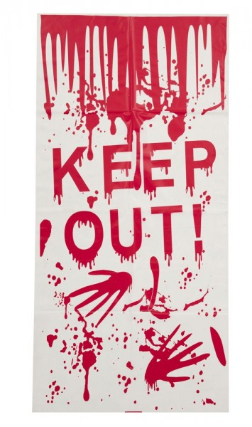 Keep Out Halloween Horror Deko Türposter 58x118cm