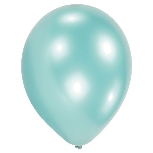 Lot de 10 ballons à air nacre bleu clair 27,5 cm