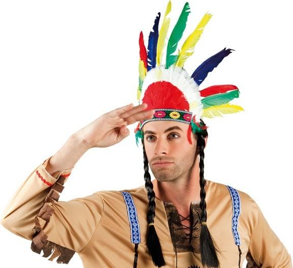 Bunter Indianer Feder Kopfschmuck