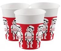 8 Star Wars Cartoon Pappbecher 200ml