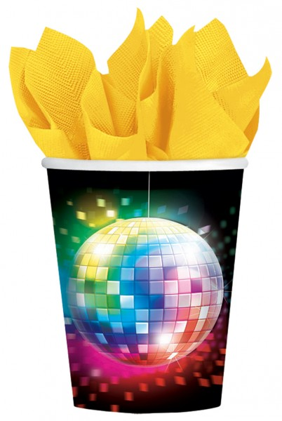 8 Disco Fever Pappbecher 266ml