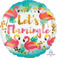 Runder Folienballon Let`s Flamingle 43cm