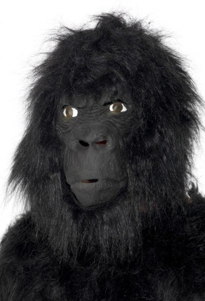 Schwarze Gorilla Maske