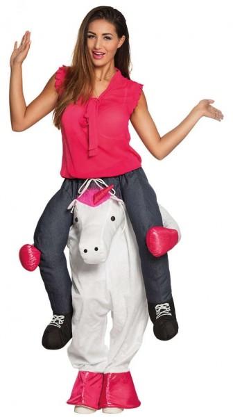 Unicorn Rosy-piggyback-kostuum