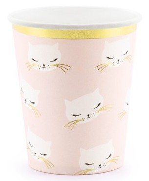 6 cat Kiki paper cups 200ml