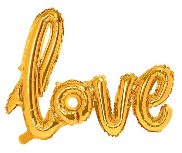Foil balloon Love gold 73 x 59cm