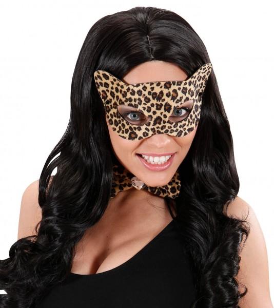 Masque léopard marron