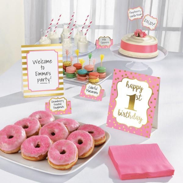 Pinkstar 1st Birthday Buffet Set