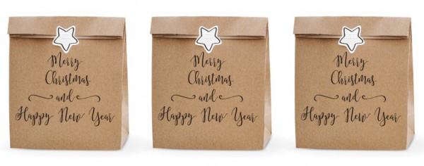 3 Christmas Eve & New Year Geschenktüten
