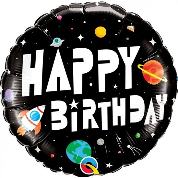 Intergalactic Birthday Folienballon 46cm