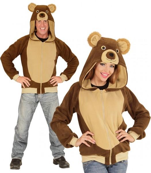 Plüschige Teddy Bär Unisex Kostüm Jacke
