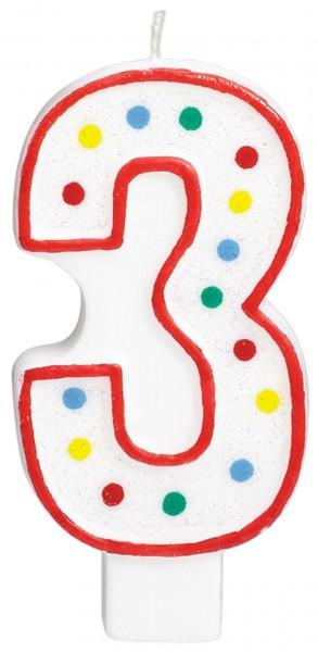 Vela pastel Charly numero 3