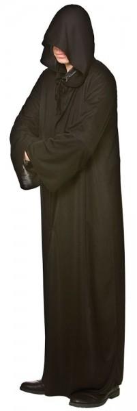 Robe noire à capuche pour homme