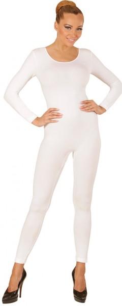 Body manches longues pour femme blanc