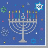 36 Happy Hanukkah Servietten 25cm