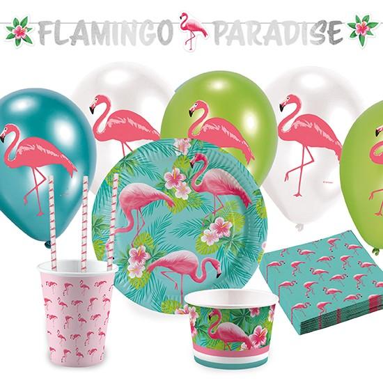 Flamingo Partypaket 63-tlg