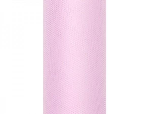 Tüll Tischläufer Hellrosa 30cm x 9m 1
