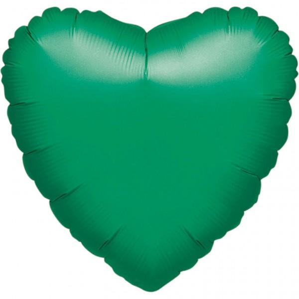 Palloncino cuore verde scuro 43 cm