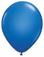 5 LED Ballons in Blau 28cm