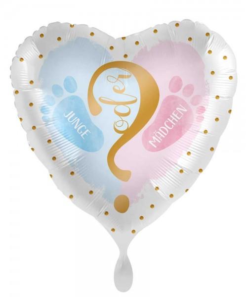 Junge oder Mädchen Folienballon 45cm