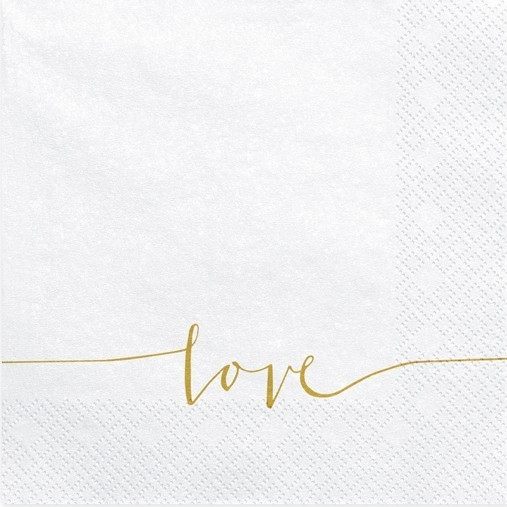 20 Simply Love Napkins White 33cm
