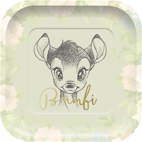 8 Bambis Welt Pappteller 24cm