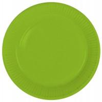 8 Pappteller Cleo grün 23cm
