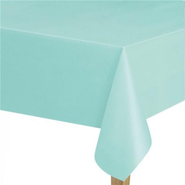 Mantel de plástico color menta 1,37 x 2,74m